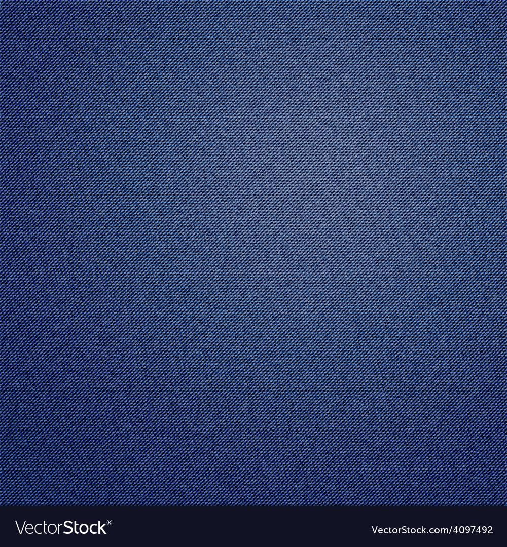 Dark blue jeans texture background vector