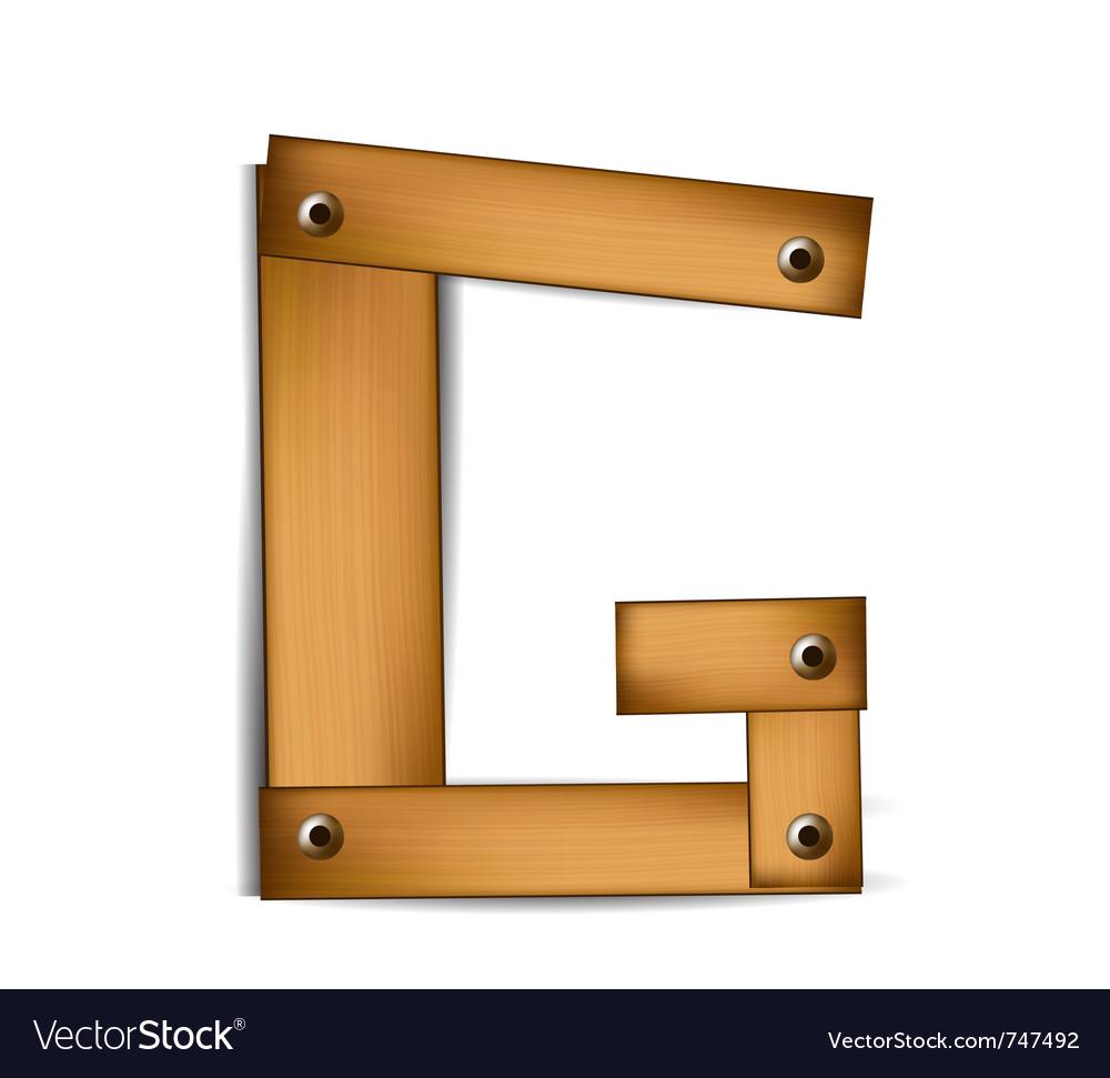 Wooden type g vector