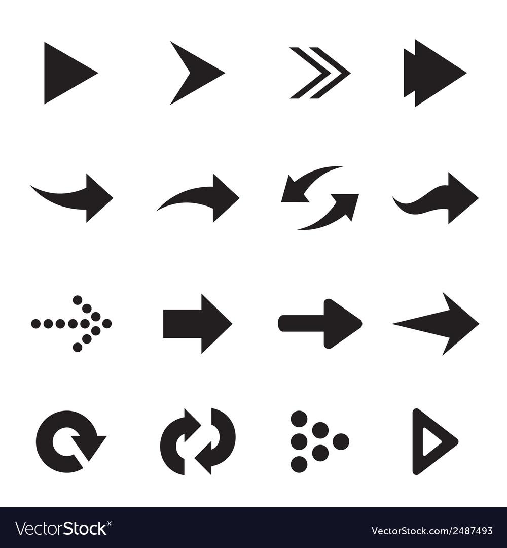 Group of arrow vector