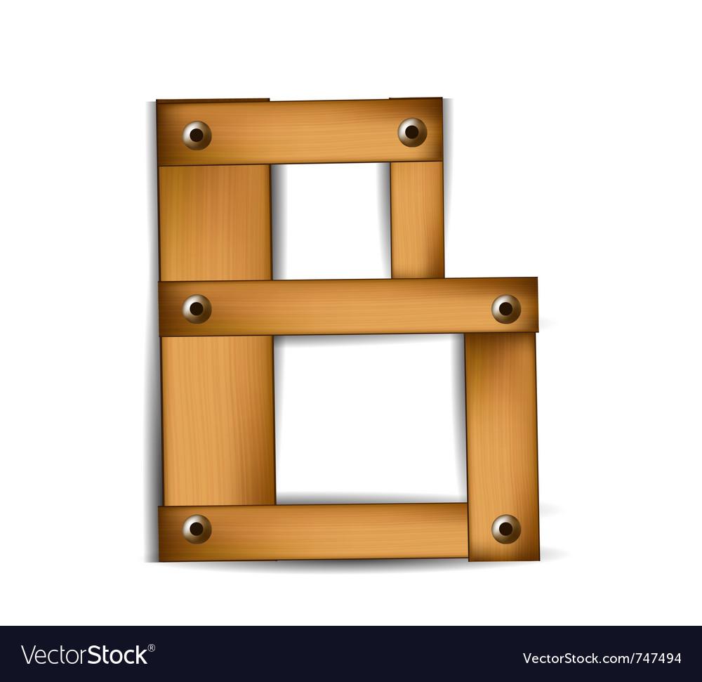 Wooden type b vector