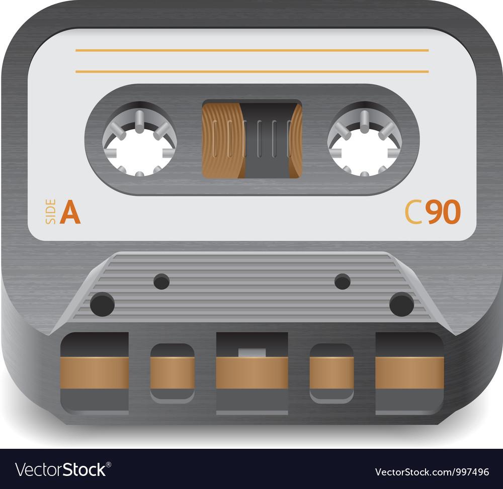 Icon for audio cassette vector