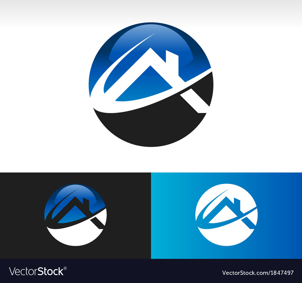 Home roof logo icon vector