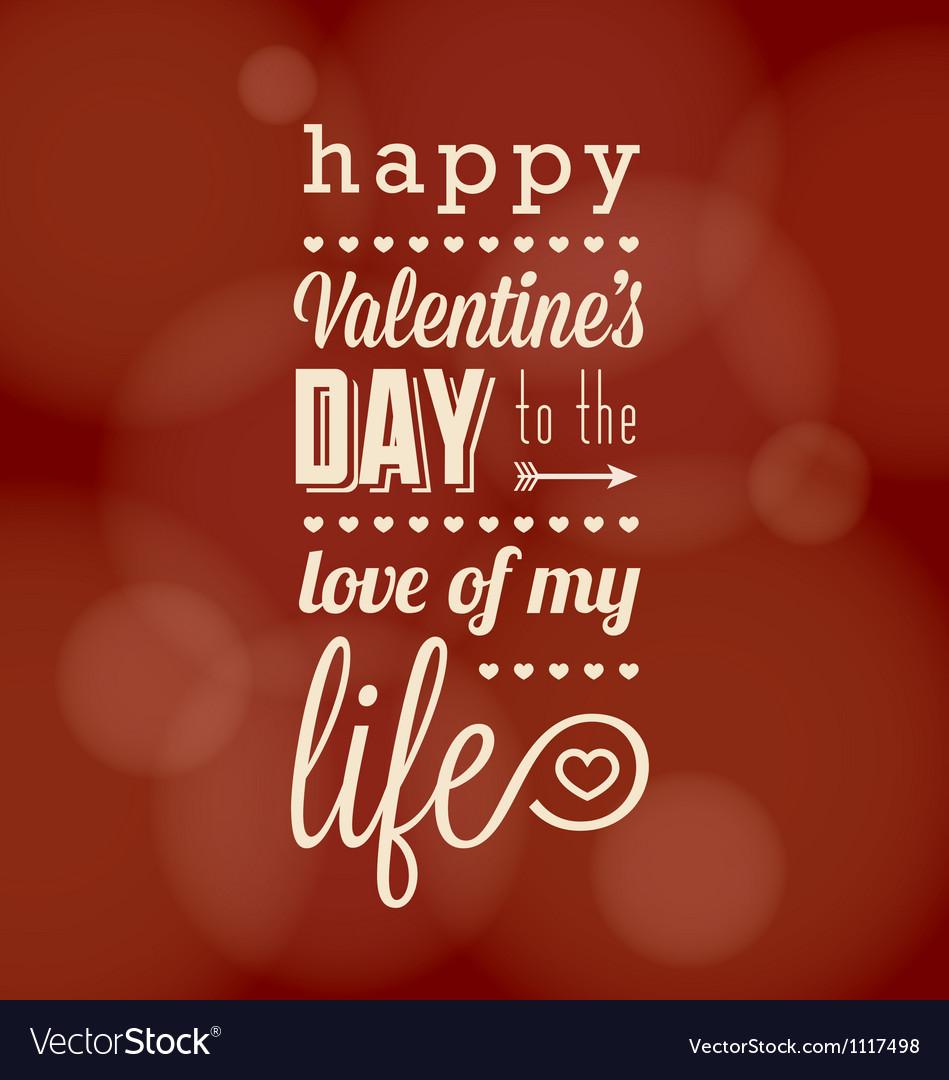 Happy valentine card vector