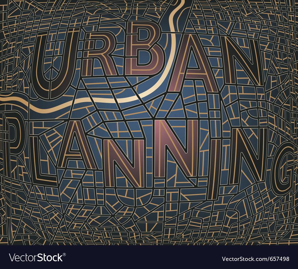 Urban plan vector