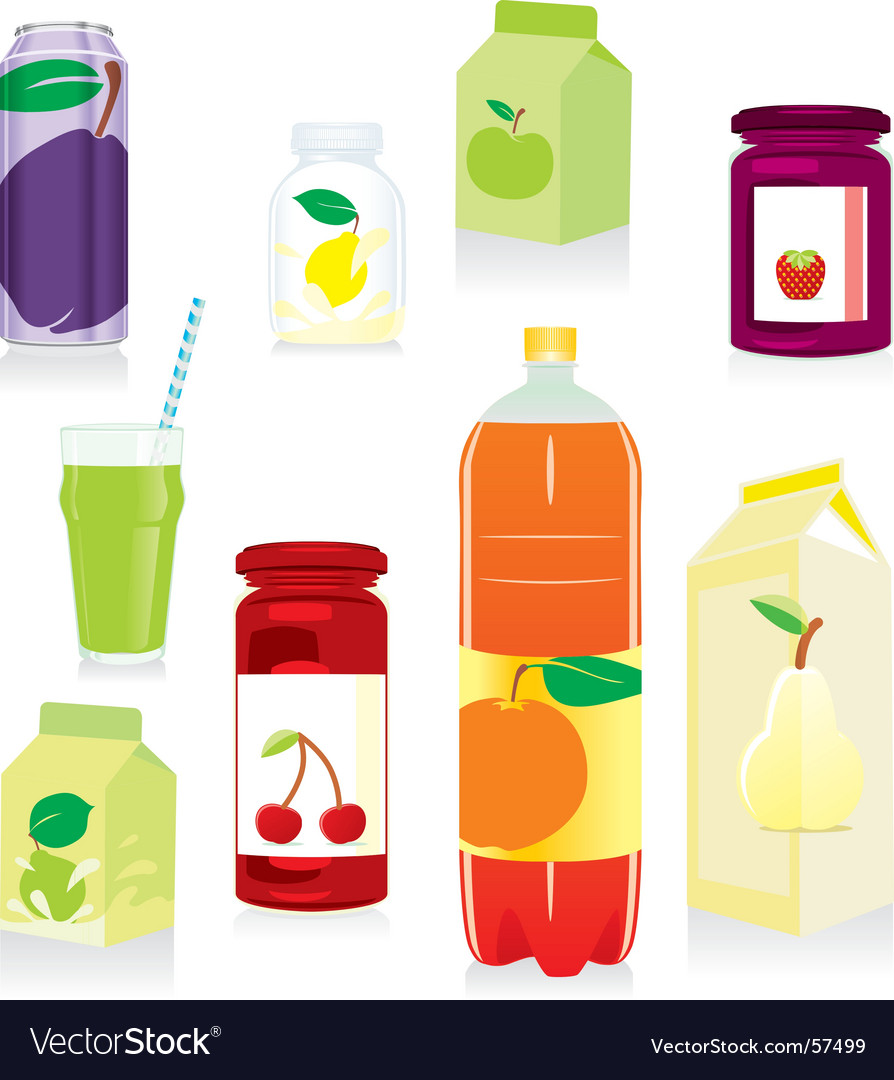 Fruit containers vector