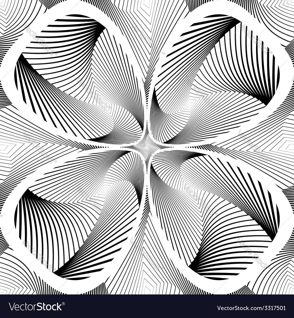Design monochrome decorative twirl background vector