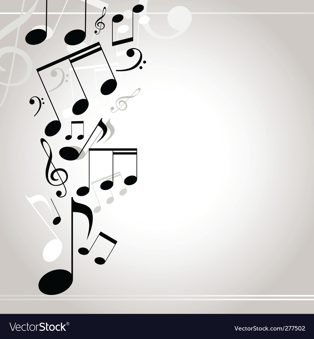 Musical background note vector