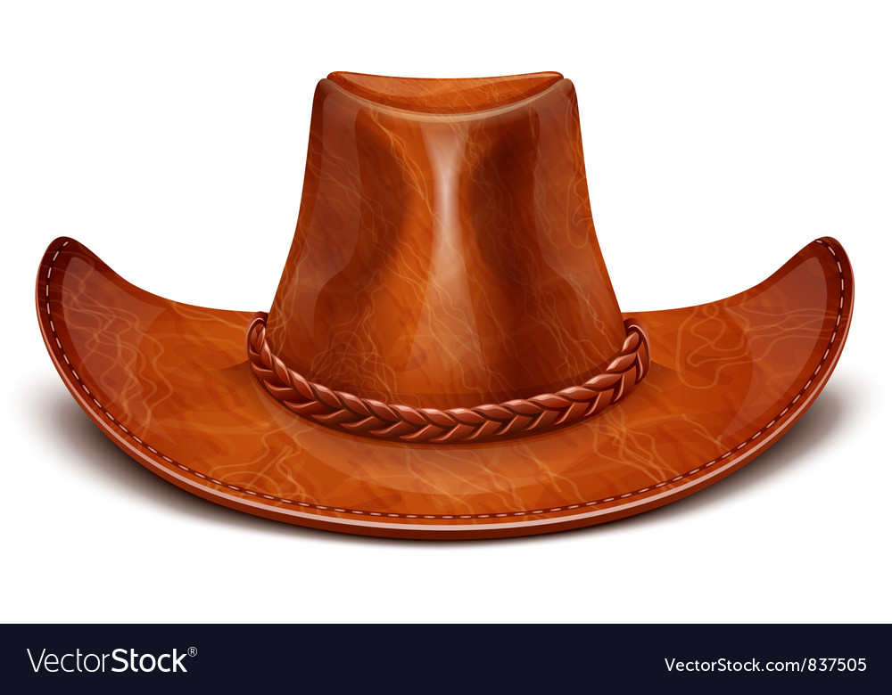Cowboys leather hat vector
