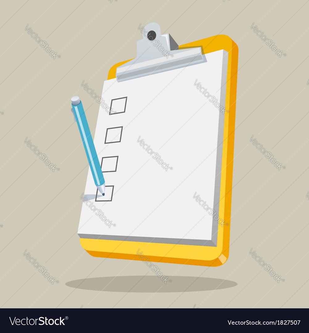 Clipboard with checklist vector