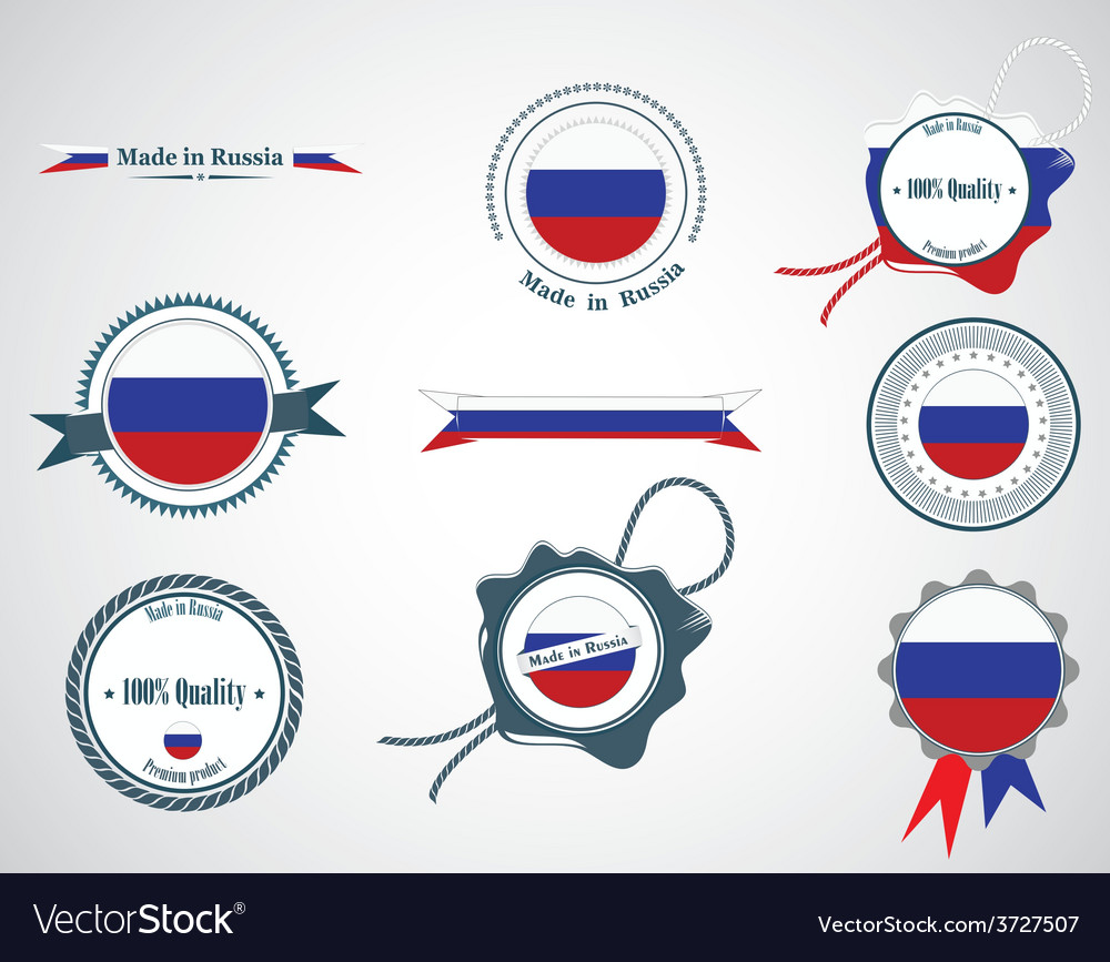 Made in russia - seals badges vector
