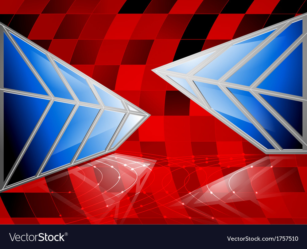 The blue glass scenery abstract background vector