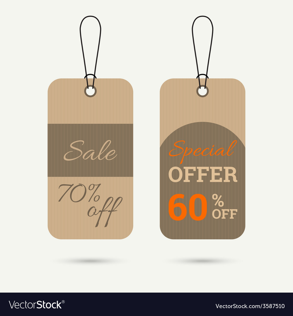 Set tags with ribbons and labels vector