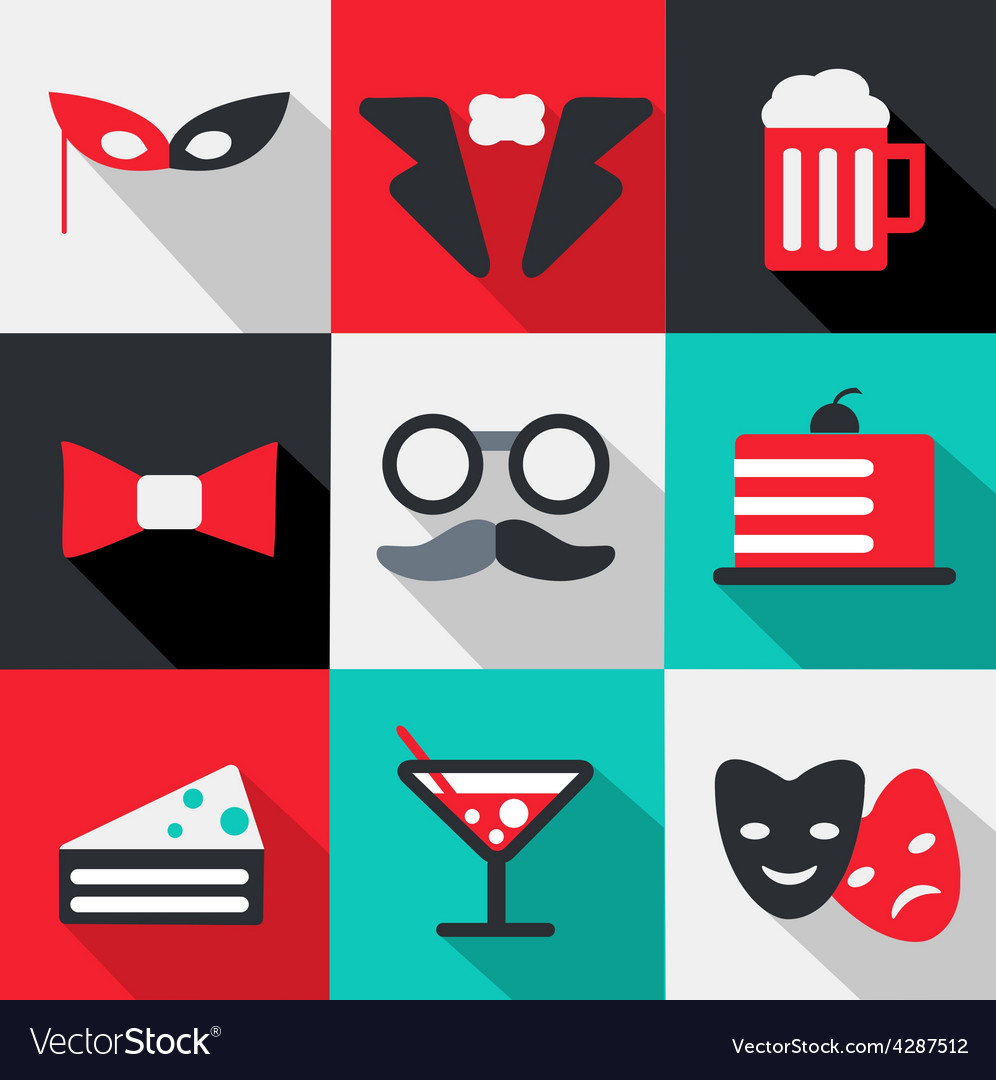 Celebration icon vector