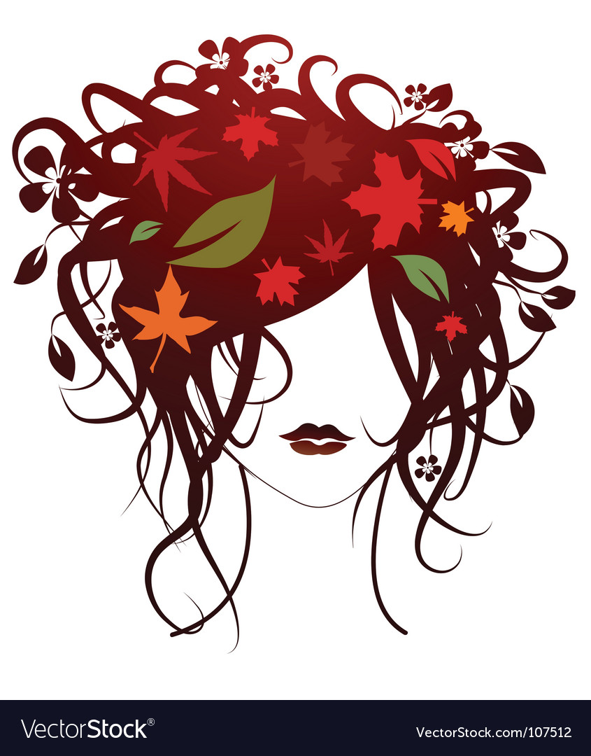 Fashion girl autumn vector