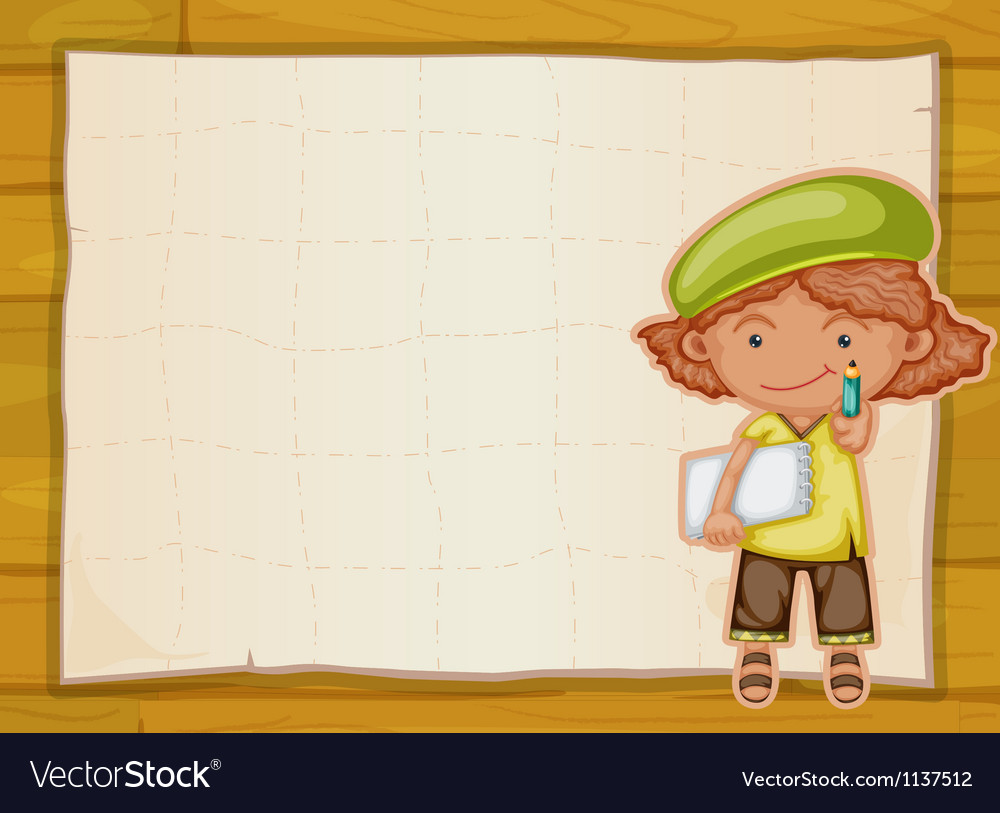Girl and cloth vector