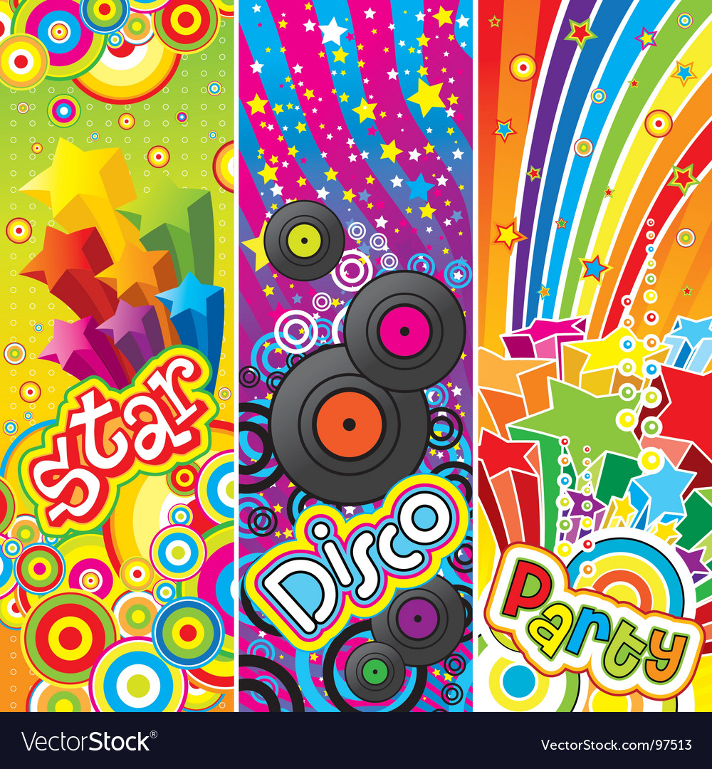 Party banners vector