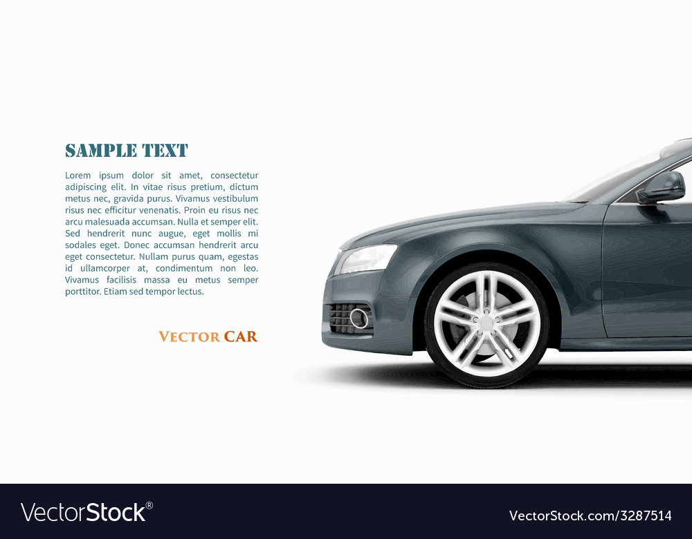 Generic luxury coupe car vector
