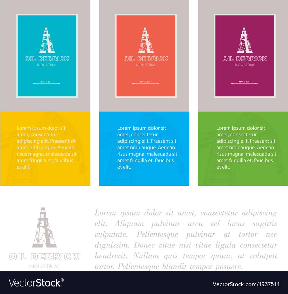Industry cards derrick symbol vector