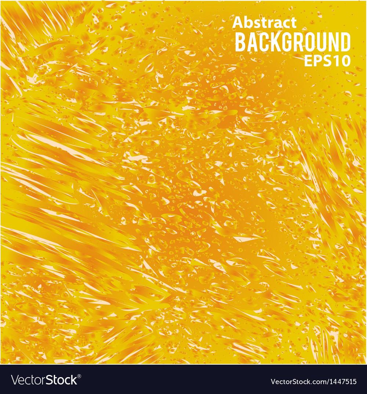Orange juicy liquid abstract background vector