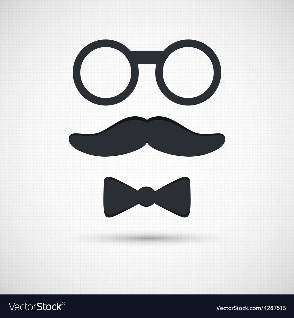 Retro eyeglasses vector