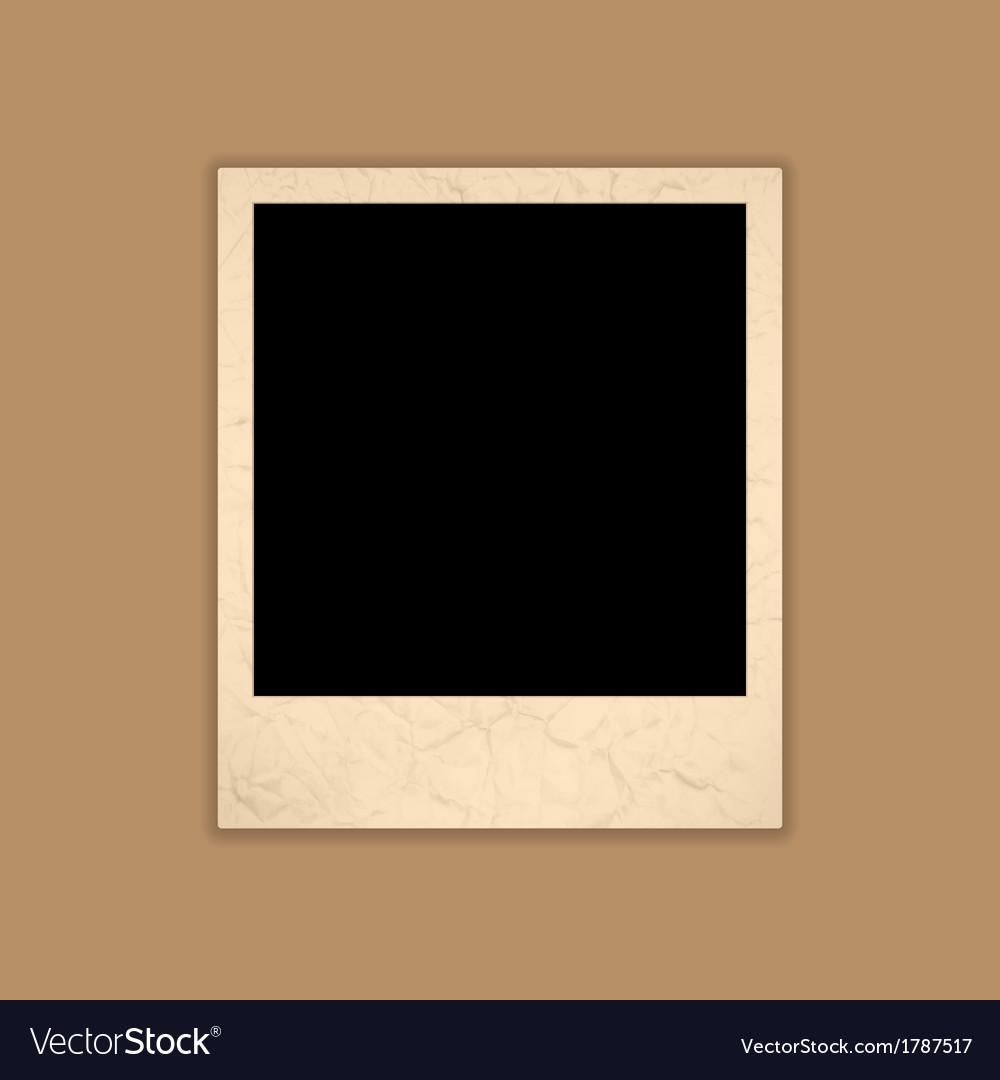 Blank grunge photo frame polaroid style vector