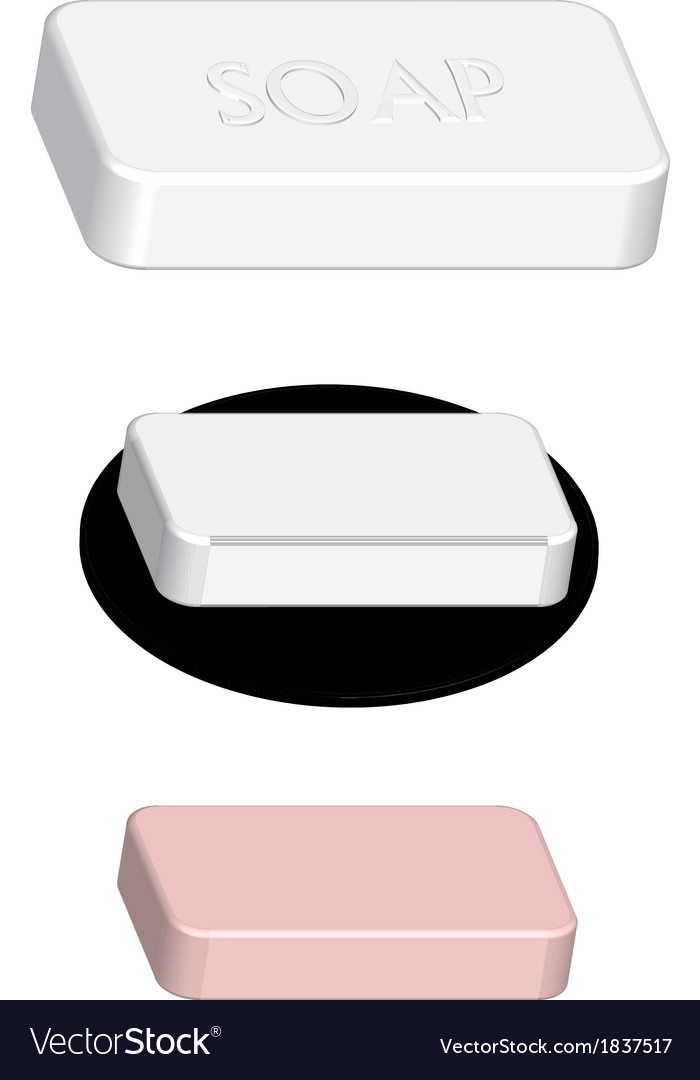 Side soap vector