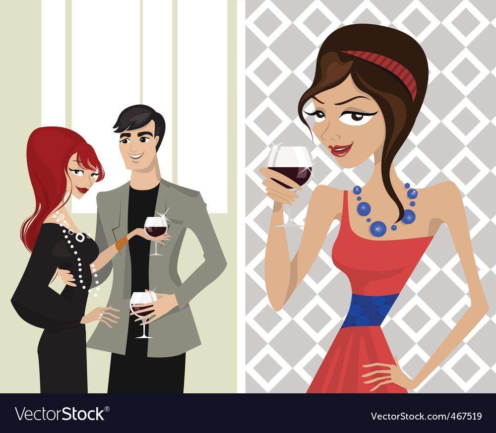 Elegance party vector