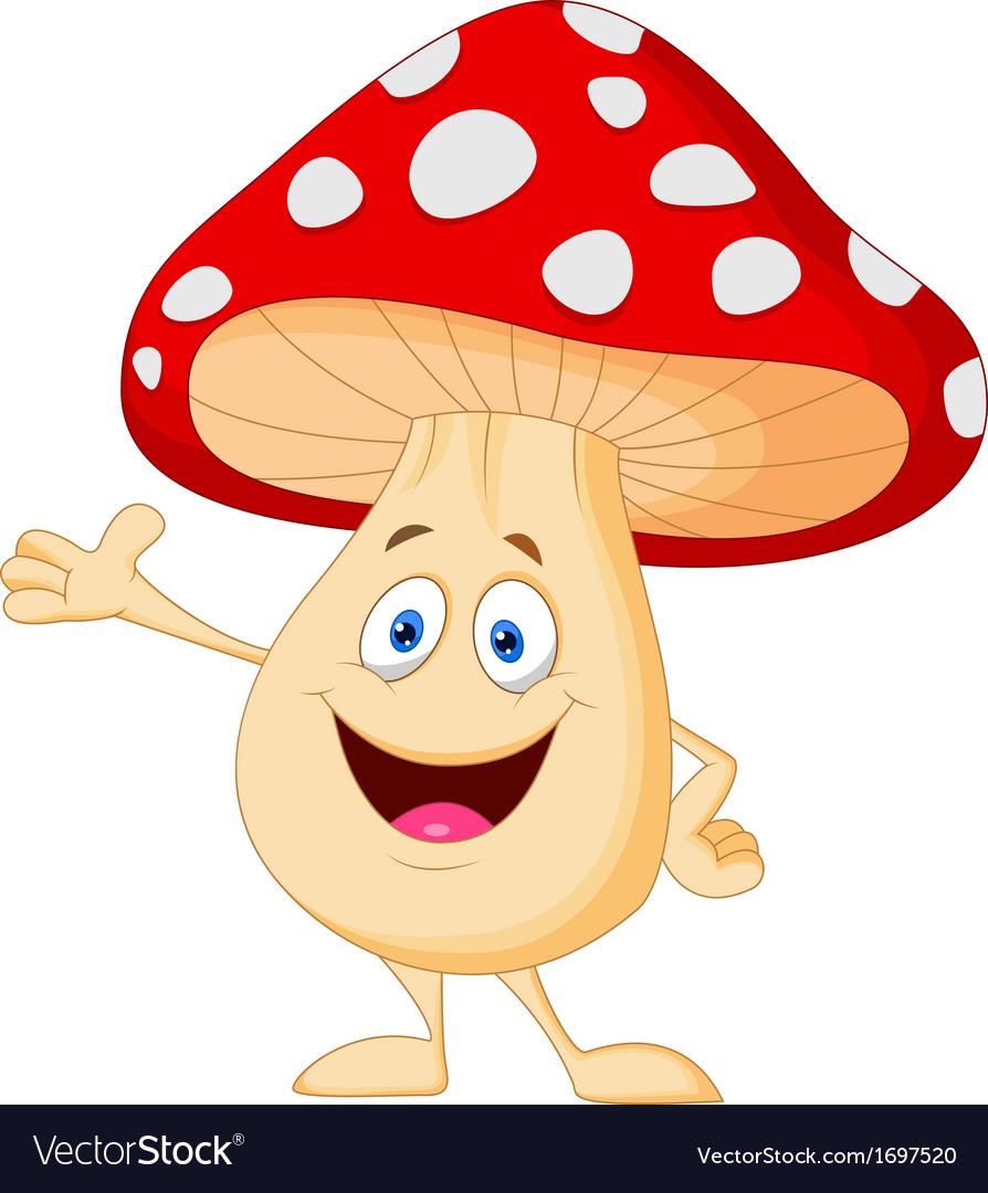 Cute mushroom cartoon vector