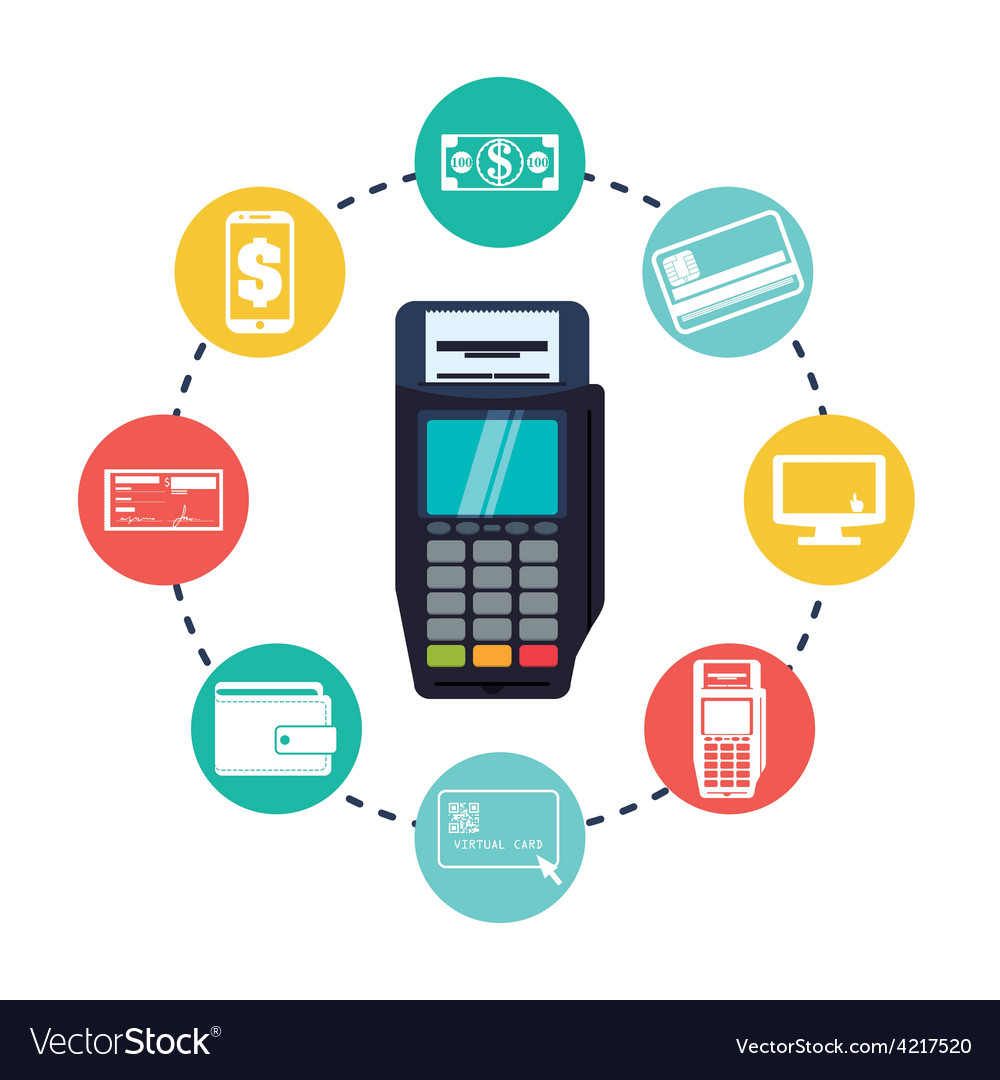 Digital payment design vector