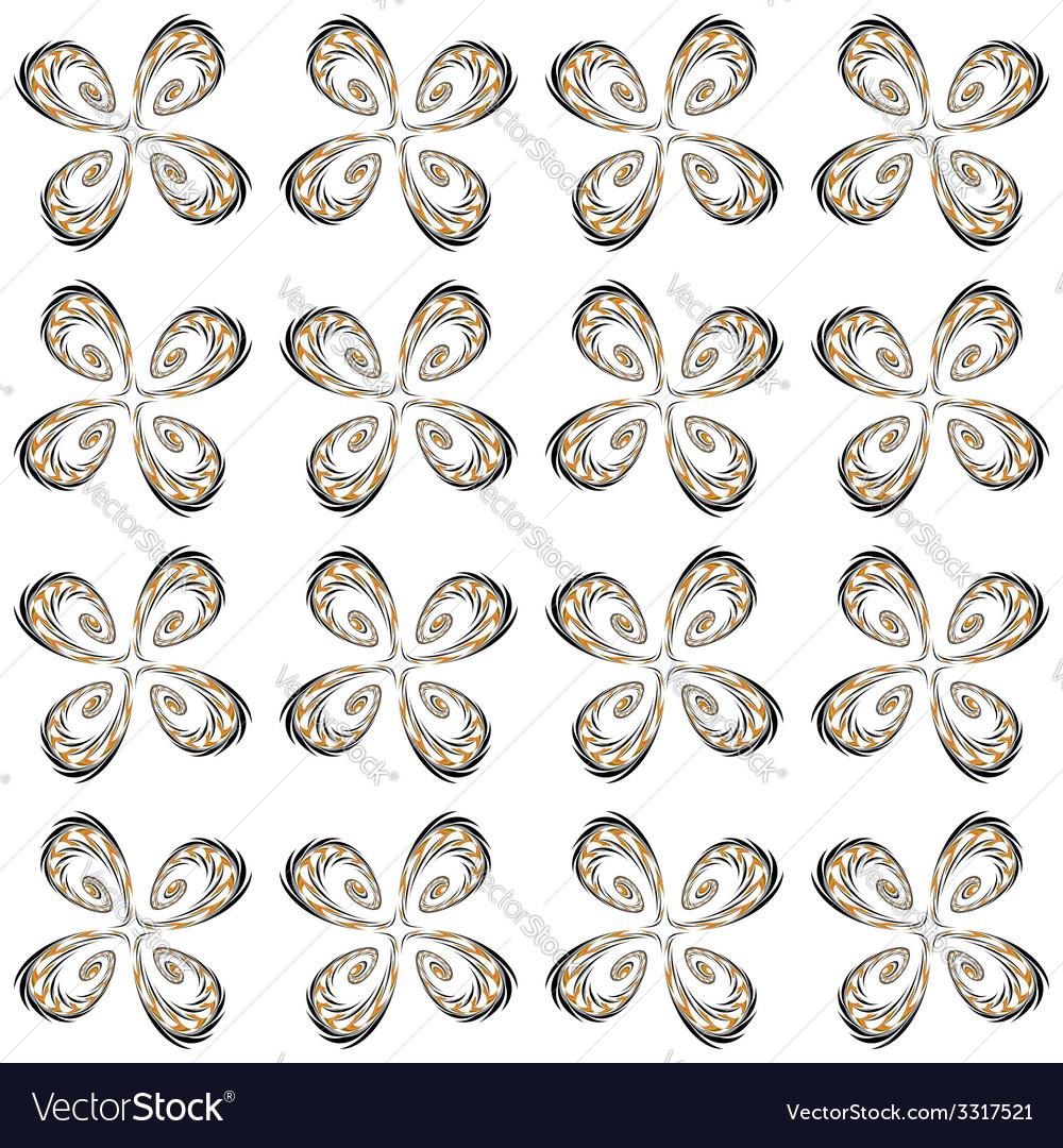 Design seamless flower decorative pattern vector