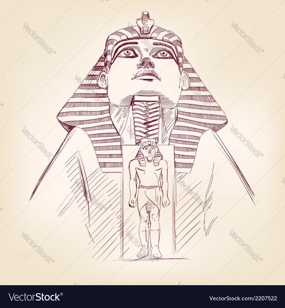 Tutankhamun egyptian pharaoh llustration vector