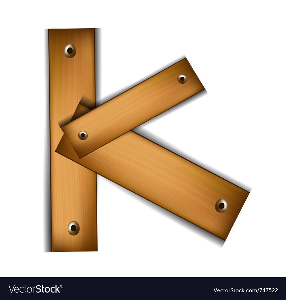 Wooden type k vector