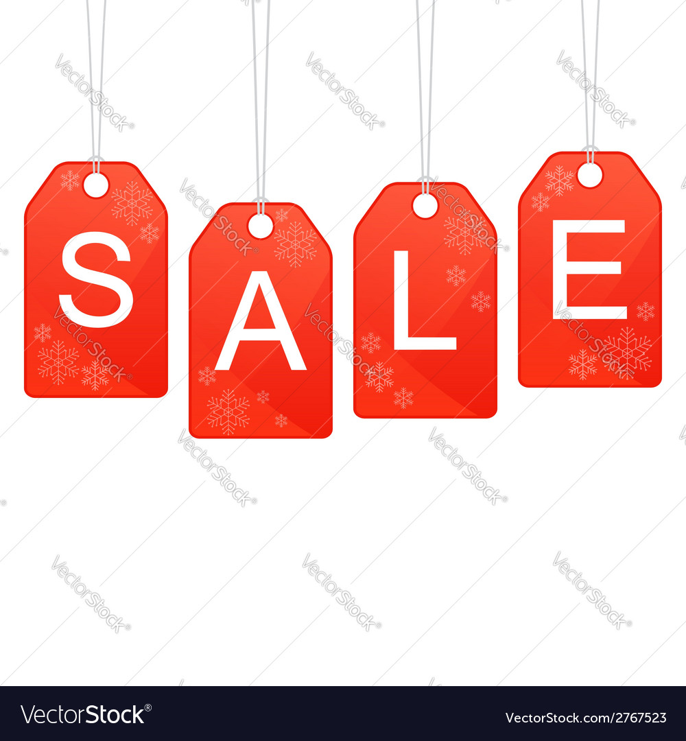 Design for winter and christmas sale vector