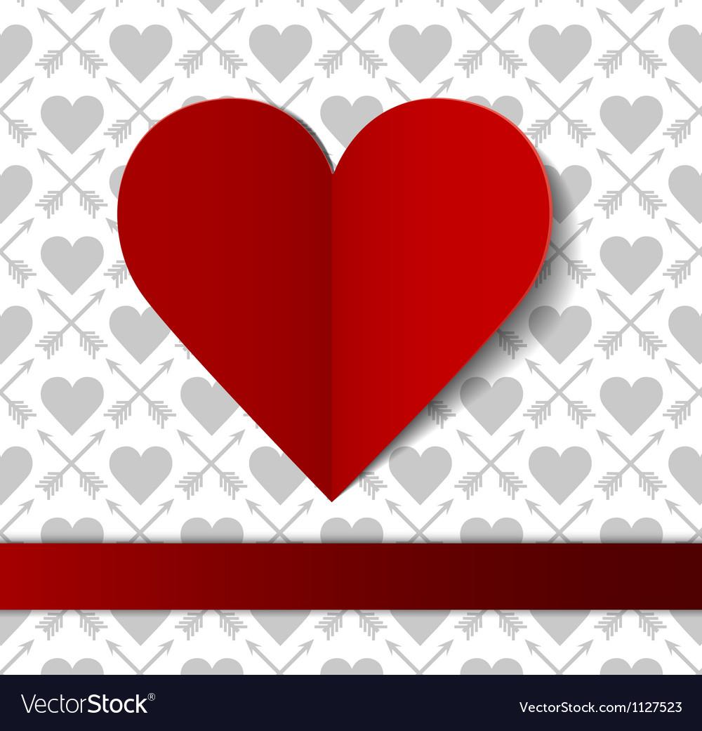 Valentines day postcard vector
