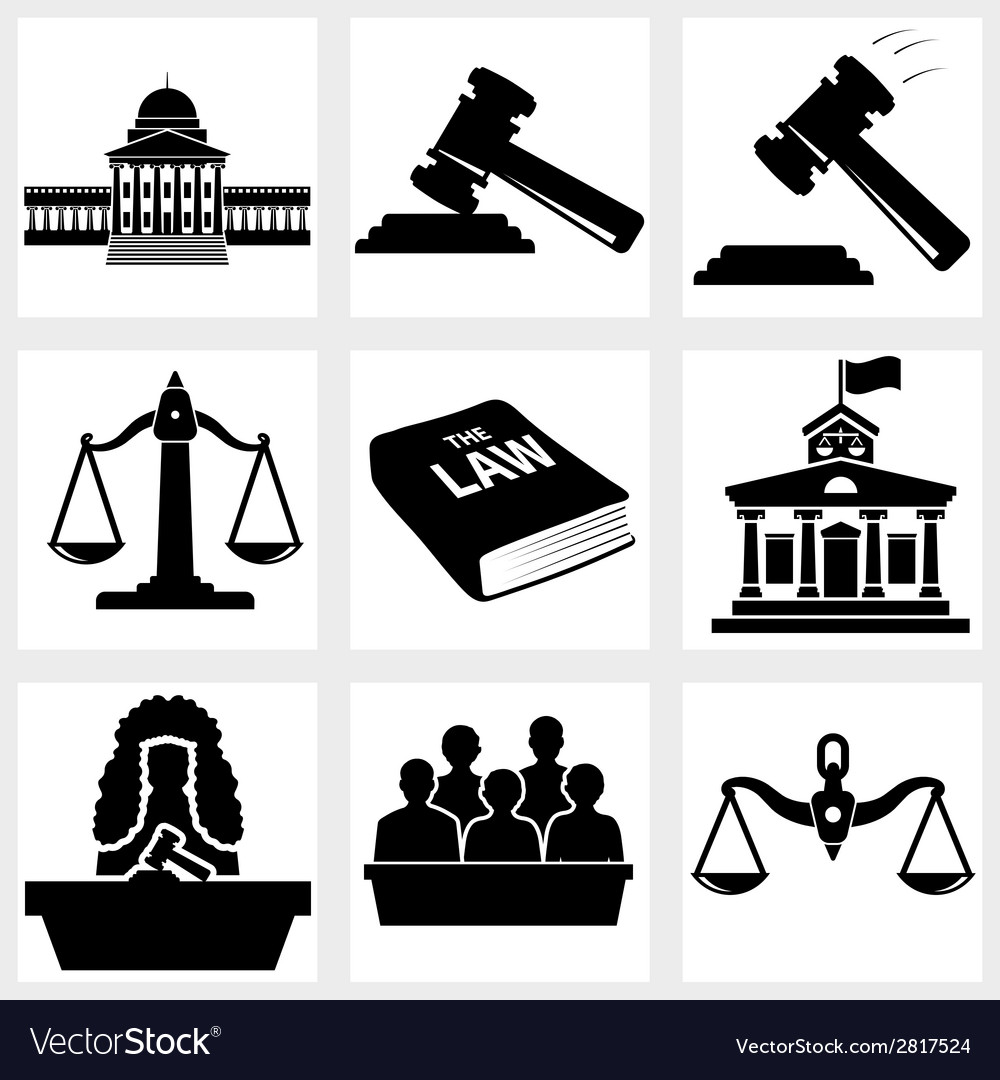 Court icon vector