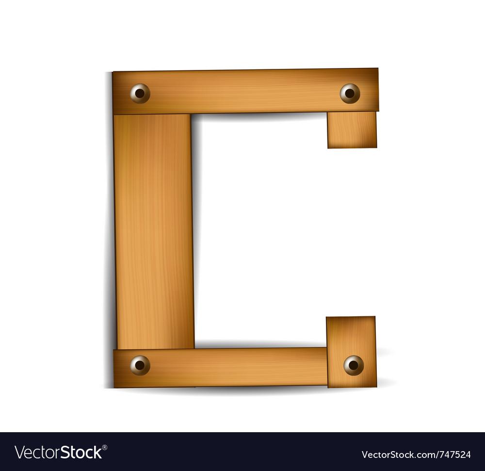 Wooden type c vector