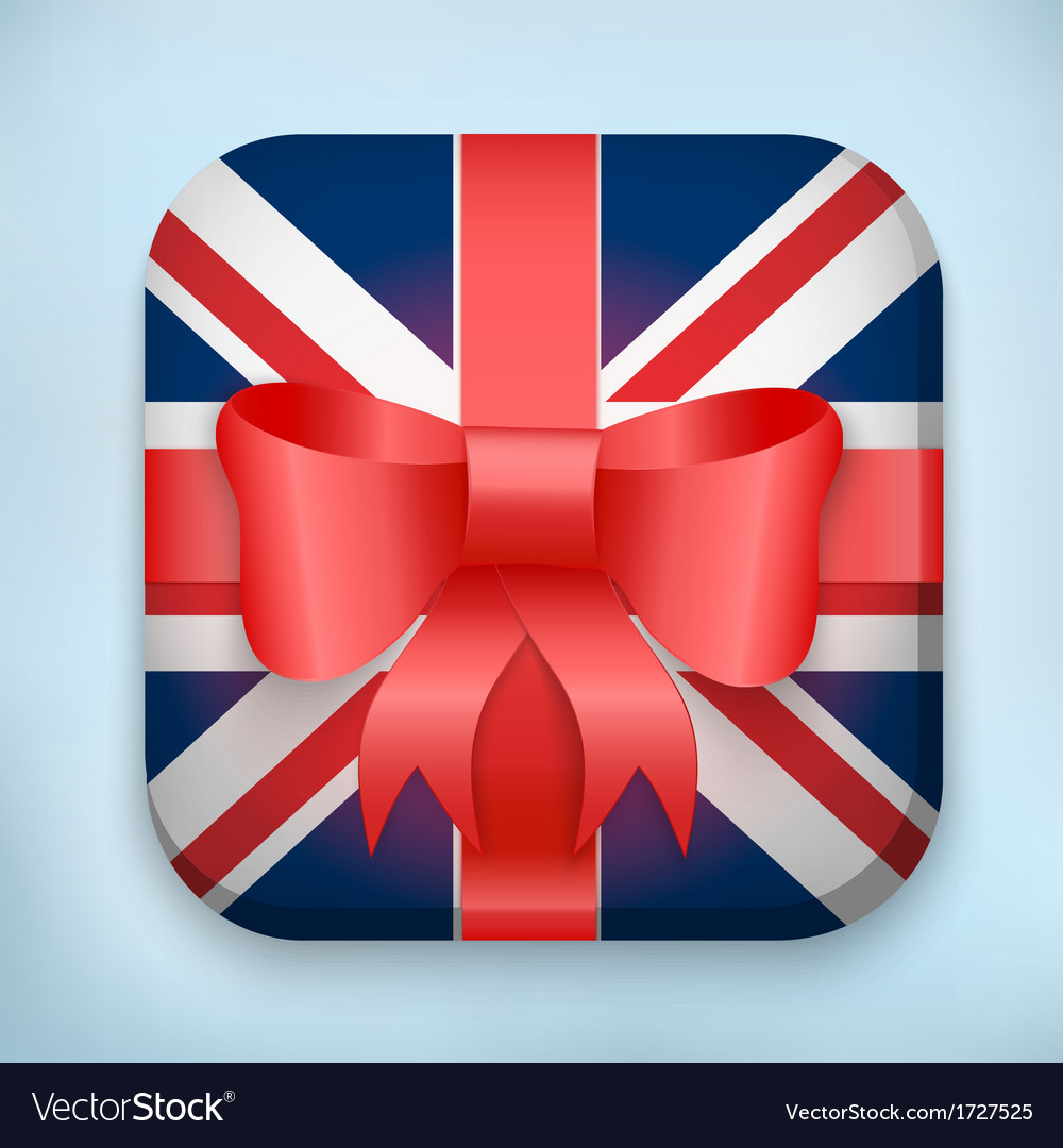Design british gift icon for web and mobile vector