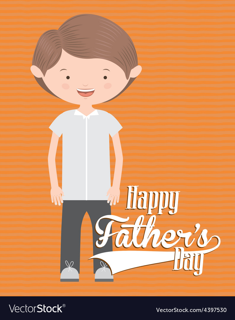 Fathers day design vector