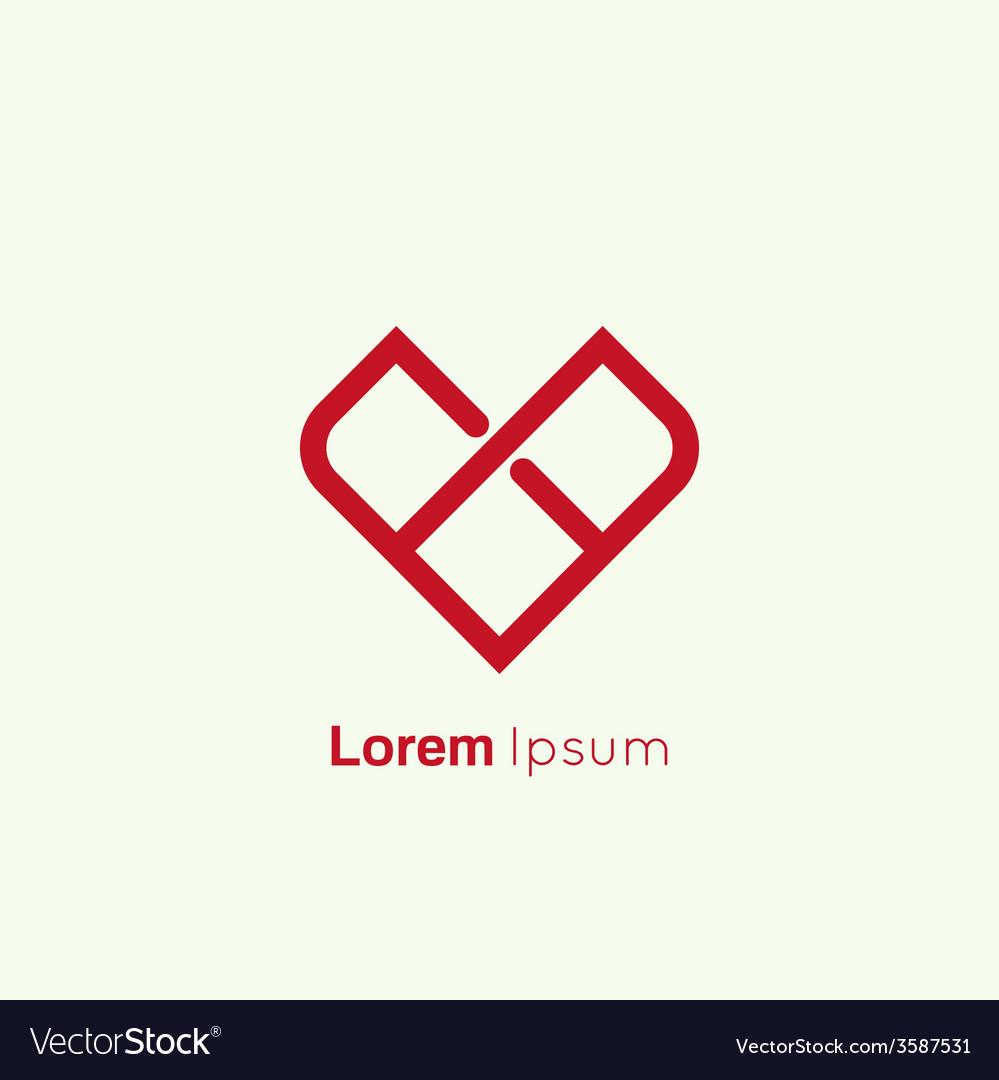 Happy valentines day concept icon vector