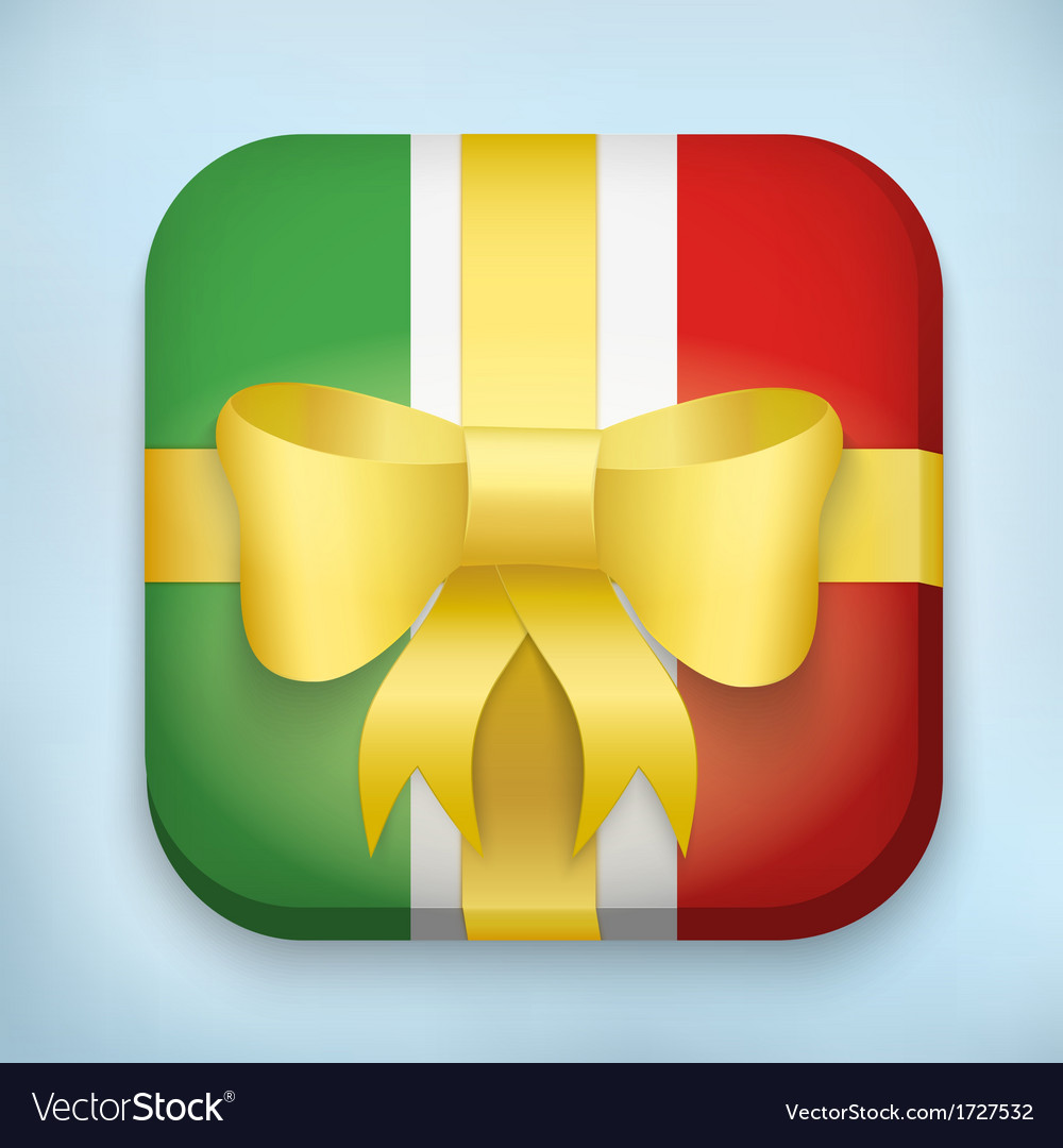 Design italy gift icon for web and mobile vector