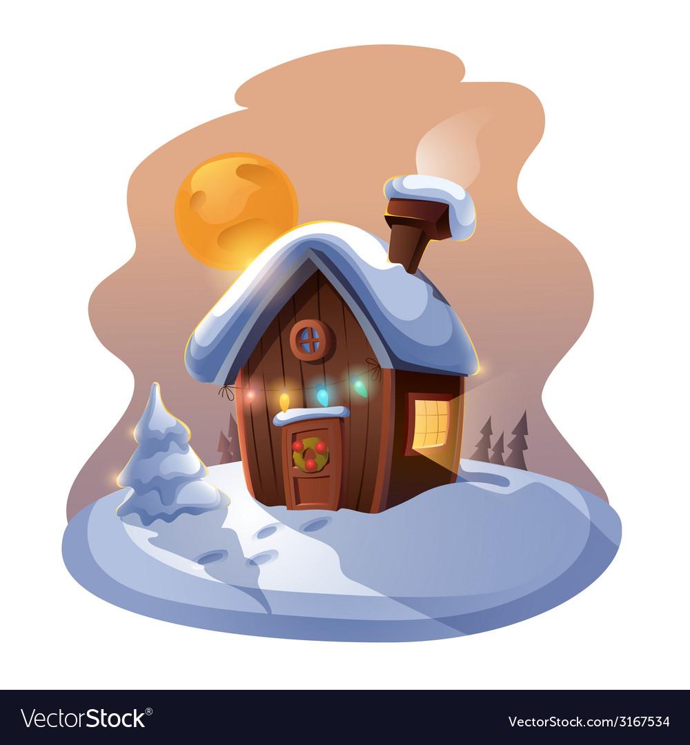 Christmas home vector