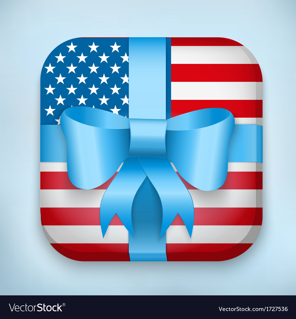 Design usa gift icon for web and mobile vector