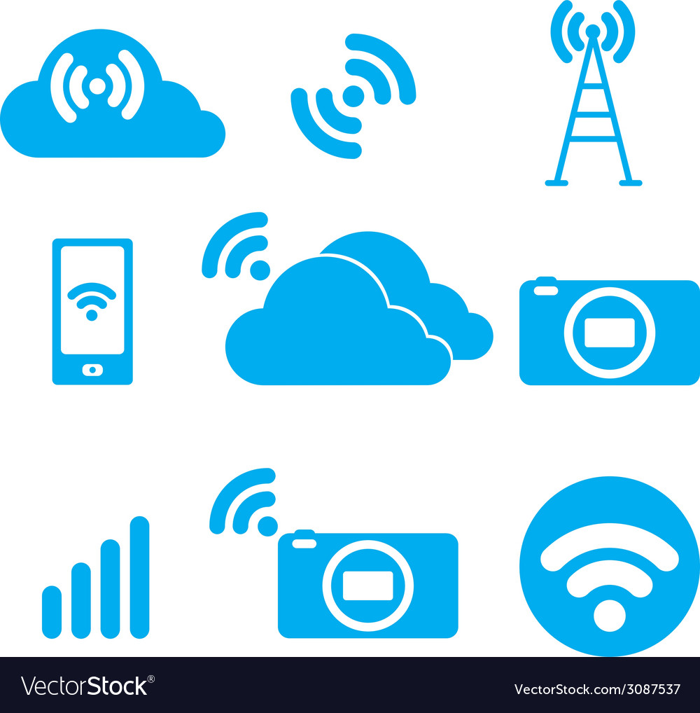 Symbol of the wireless signal vector