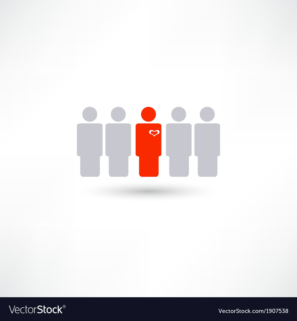 Stands out from the crowd vector