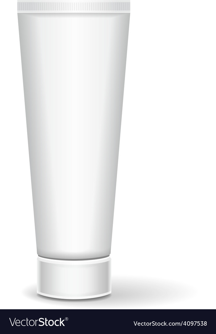 White tube mock-up for cream tooth paste vector