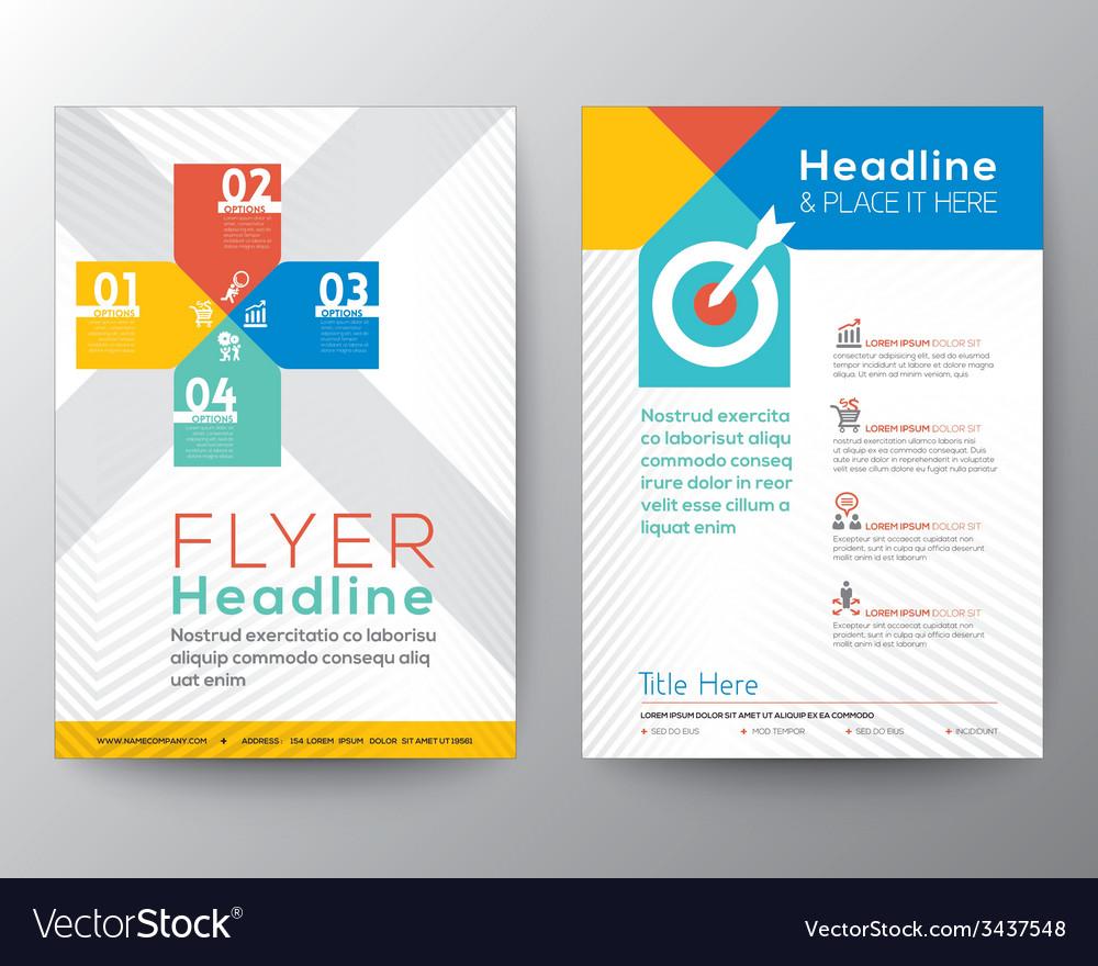 Brochure flyer graphic design layout template vector