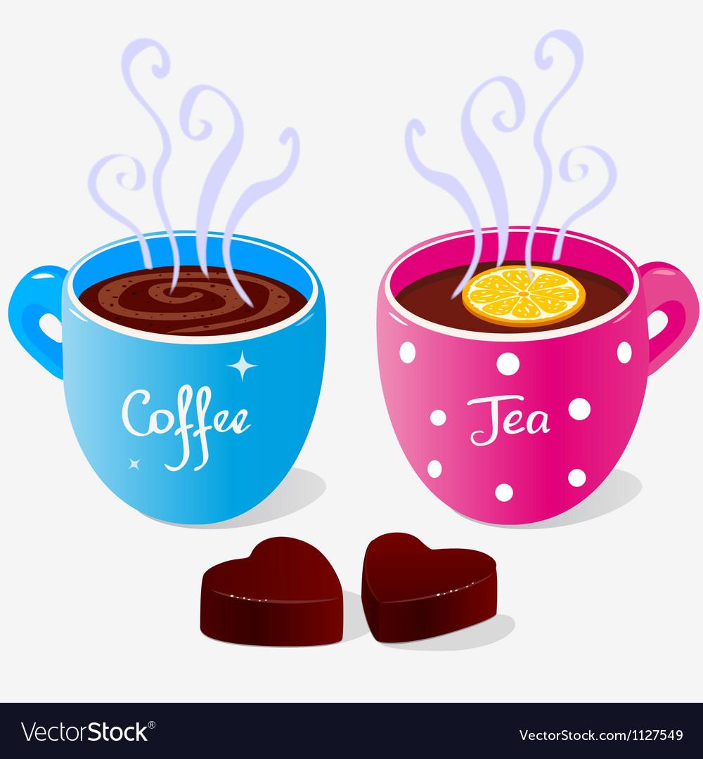 Tea party two vector