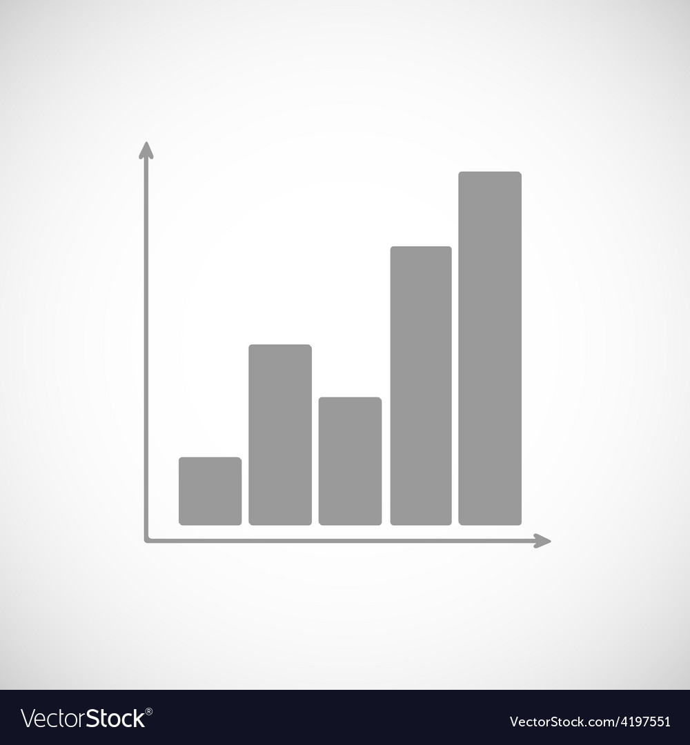 Chart black icon vector