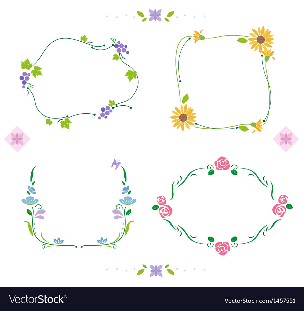 Lovely frame vector