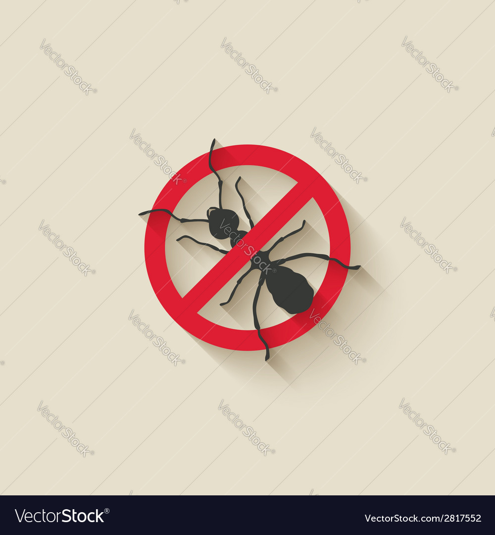 Ant warning sign vector
